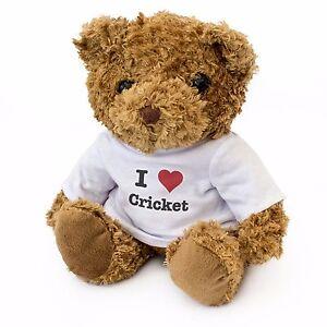 NEW - I LOVE CRICKET - Teddy Bear Cute Cuddly - Gift Present Birthday Xmas