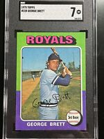 1975 Topps Baseball George Brett Rookie #228 SGC 7 NM Gorgeous!