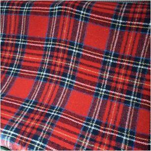 Retro Red Christmas Tartan Check Tassel Small Picnic Blanket Throw
