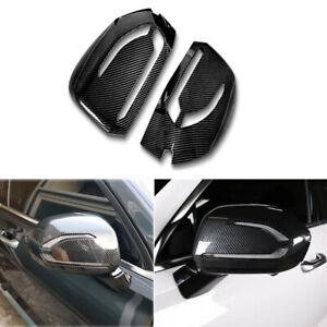For Hyundai Palisade 2020+ Carbon Fiber Side Door Rearview Mirror Cover Trim Cap