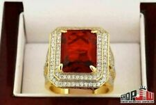 14k Gold Finish .925 Silver Simulated Red Ruby Ring Fashion Rick Ross Lil Boosie