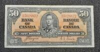 Canada 1937 Coyne Towers BC-26c $50.00 Banknote BH 5028872