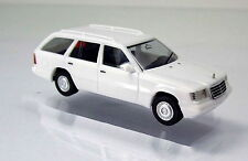 Herpa 028554 MB E 320 T Modell W124 Facelift 1993 weiß Scale 1 87