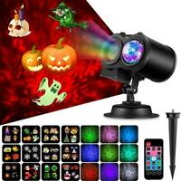 Christmas LED Laser Projector RGB Lights Twinkle Garden Outdoor Decorations