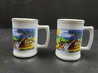 "Arkansas Vintage 2 1/2"" Mug Cup Salt & Pepper Shakers"