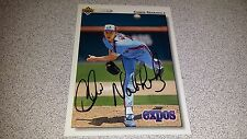 CHRIS NABHOLZ AUTOGRAPHED AUTHENTIC HAND SIGNED 92 UPPER DECK EXPO BASEBALL CARD