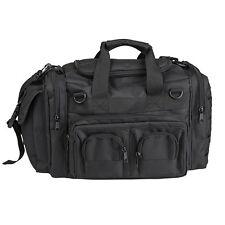 Mil-Tiro Táctico Policía Tec K-10 para hombre Kit debe llevar a mano Hombre Bolso Negro