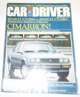 Car And Driver Magazine Renualt 5 Turbo Vs. Renault 5 Turbo August 1981 080514R1