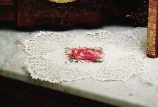 ELEGANT Red Rose Doily/CROCHET PATTERN INSTRUCTIONS ONLY