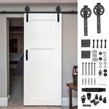 Black Sliding Barn Door Hardware Kit 6.6 Foot J Shape