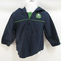 Gymboree 12-24 Months Jacket Hooded Windbreaker Coat Navy Blue Golf
