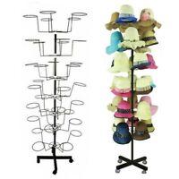 Cap Hat Display Rack 7 Tiers Rotating Spinner Metal Standalone 35 Hats Hooks