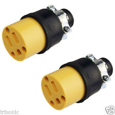 2pc Heavy Duty 3-Prong Female Extension Electrical Plug Replacement 125V 15A