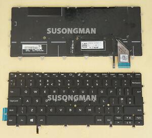 New UK Keyboard for DELL XPS 9370 9380 7390 Laptop Backlit No Frame Black