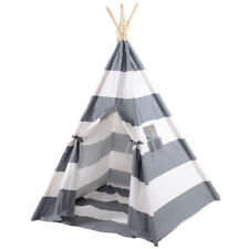 Gray Kids Indian Play Tent Teepee Children Girl Boy Play House Sleeping Dome Bag