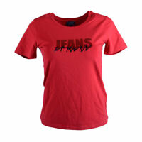 ARMANI JEANS 6X5T01 5J00Z Womens T Shirt Red Casual Crew Neck Short Sleeve Tee