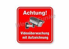 1 Schild Videoüberwachung m. Aufz. 40 cm, Kameraüberwachung, videoüberwacht