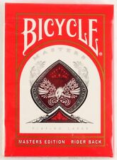 USPCC Bicycle Masters Edition Rider Red Back Playing Cards Still Factory Sealed