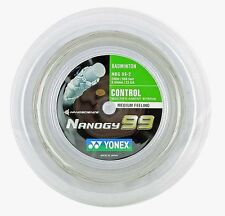 Original Yonex NBG99 (white) 656ft 200m Reel Badminton String