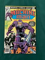 Machine Man #1 NM (9.4) - Off-White Pages - Jack Kirby Art!
