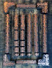 letterpress border printing blocks frame ornaments Art Nouveau wood cooper/wood.
