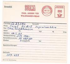 WALDHAUSEN B Schorndorf REMS Württemberg 1961 Sorma Paul Andra scheda di archivio