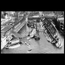 Photo B.001277 USS LAFAYETTE PAQUEBOT NORMANDIE NEW YORK OCEAN LINER PAQUEBOT