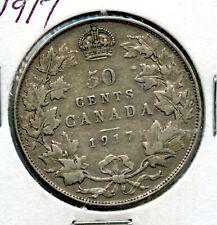 Weeda Canada 1917 silver 50c half dollar
