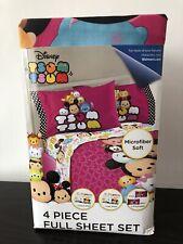 Disney Tsum Tsum Full Sheet Set 4 Pieces