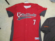 AUTHENTIC RUSSELL MILB FARGO MOORHEAD REDHAWKS #7 JERSEY-M MENS MINOR LEAGUE