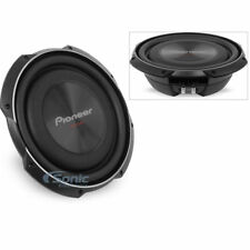 """(2) PIONEER 3000W 12"""" TS Single 4 Ohm Shallow Mount Car Subwoofers 