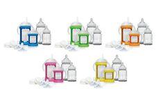 Cherub Baby Colour Change Glass Baby Bottles Wide Neck Starter Kit Sippy & Straw