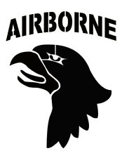 """101st Airborne Division Patch 8.5"""" x 11"""" Custom Stencil FAST FREE SHIPPING"""