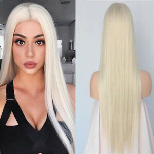 Virgin Full Lace Human Hair Wigs European Caucasian White Blonde Lace Front Wigs