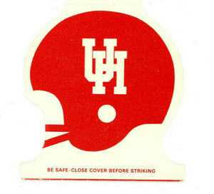 Vintage Football Schedule Matchbook Cover Houston Cougars