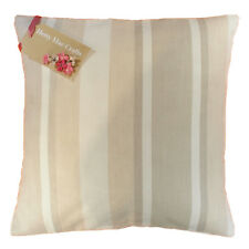 Laura Ashley Awning Stripe Natural SET OF 4 Cushion Covers Size 16 inch by 16
