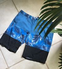 Men's O'NEILL Board Shorts Size 40 Blue Floral Stretch Surf Swim Skate