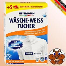HEITMANN Wäsche-Weiss Tücher 20 Stück, Waschadditiv Wäsche Weiss Weiß Tücher
