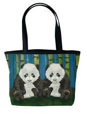 Panda Handbag Tote Bag by Salvador Kitti - Support Wildlife Conservation
