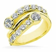 Right Hand Diamond Wedding Band 14K Yellow Gold Ring 1.80 Carat H Si1 clarity