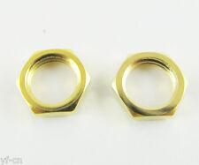 5pcs Standard SMA Screw Nut 6.35mm 1/4 - 36UNS-2B Gold Plated