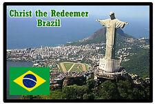 CHRIST THE REDEEMER, BRAZIL - SOUVENIR  FRIDGE MAGNET -  BRAND NEW