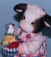 Enesco Mary's Moo Moos figurine #634638 cow, friends, welcome mat, NIB 1999