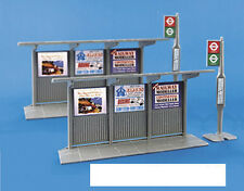 Modelscene 5007 2 x Bus Stops & Shelters '00' Gauge =1/76th Scale 1st Class Post
