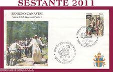 VATICANO FDC ROMA VISITA PAPA GIOVANNI PAOLO II BENIGNO CANAVESE TO 1990 (658)