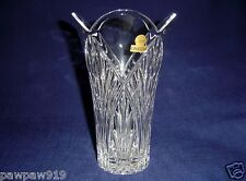 VINTAGE CRYSTAL GLASS ONEIDA CAPRI VASE ITALY ORIGINAL STICKER UNUSED