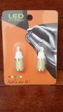 NEW Two 6W 10 LED T10 Light Bulbs Wedge 2700k Warm White Car 12v Retail Packaged