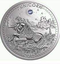 2012 Cameroon Large Silver 1000 Fr. Unicorn w/opal-rare-mintage 888
