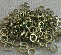 Stainless Steel 6mm split rings 100 pcs