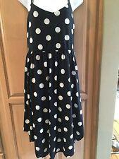 "Ladies Black &White polka dot sundress sL. xhilaration brand. Length36-42"""